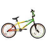 "image of Zombie Rasta BMX Bike 20"" Green/red/yellow"