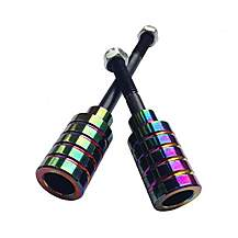 image of Team Dogz Scooter Stunt Pegs Chrome Nebula Rainbow