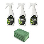 image of Eco Touch Waterless Car Wash Bundle - 3 X 500ml & 4 Microfibre Towels