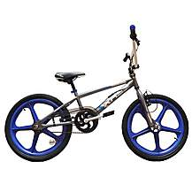 image of Harlem Xr22 Bmx 20in Blue Skyway Mag Freestyle Bike Grey/blue