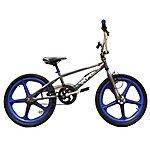 "image of Harlem Xr22 BMX Bike 20"" Blue Mag Grey"