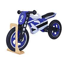 image of Yammy Wooden Motorbike Balance Bike 2017 Design With Stand