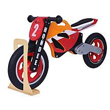 image of Hondee Wooden Motorbike Balance Bike 2017 Design With Stand
