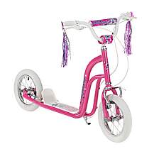 image of Concept Princess Girls 12in BMX Style Push Scooter Pink