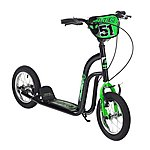 "image of Concept Alien Boys 12"" BMX Push Scooter Black/green"