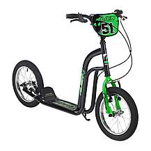 "image of Concept Alien Boys 14"" BMX Push Scooter Black/green"
