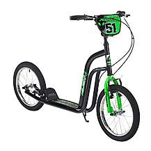 "image of Concept Alien Boys 16"" BMX Push Scooter Black/green"