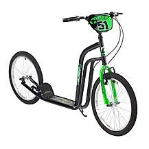 "image of Concept Alien Boys 18"" BMX Push Kick Scooter Black/green"