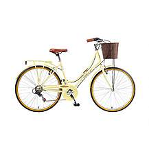 image of Brooklyn Village Se Womens 26in Wheel Cream 6 Speed Dutch Style Bike