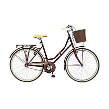 image of Brooklyn Village Womens 26in Wheel Burgundy Dutch Style Bike