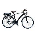 image of Lindsey West Lw 432 21in Frame Cross Bar Electric Bike Black