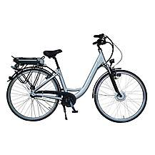image of Lindsey West Lw 436 17in Frame Step Through Electric Bike Silver
