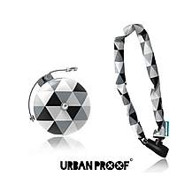 image of Urban Proof Bike Accessory Set, Lock & Bell, Black & White
