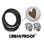 image of Urban Proof Bike Accessory Set, Bell, Lights & Combo Lock, Silver