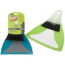 image of Summit Flexi Dustpan And Brush - Assorted Colours