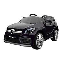 image of Licensed Mercedes A45 12v Kids Electric Ride On Car With Remote - Black