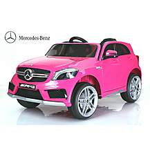 image of Licensed Mercedes A45 12v Kids Electric Ride On Car With Remote - Pink