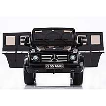 image of Licensed Mercedes G55 12v Kids Electric Ride On Car With Remote - Black
