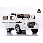image of Licensed Mercedes G55 12v Kids Electric Ride On Car With Remote - White