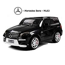 image of Licensed Mercedes Ml63 Amg 12v Kids Ride On Car With Remote - Black