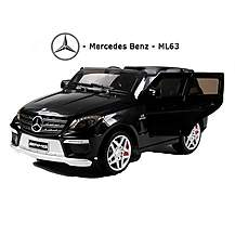 image of Licensed Mercedes Ml63 Amg 12v Kids Ride On Car With Remote - Black