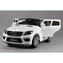 image of Licensed Mercedes Ml63 Amg 12v Kids Ride On Car With Remote - White