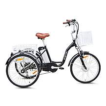 image of Jorvik Alloy Frame Electric Tricycle Black