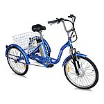image of Jorvik Alloy Frame Electric Tricycle Blue