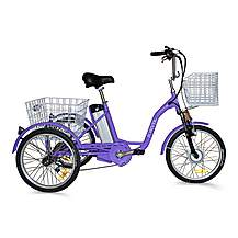 image of Jorvik Alloy Frame Electric Tricycle Purple