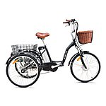 image of Jorvik Alloy Frame Dutch Style Electric Tricycle Black
