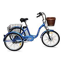 image of Jorvik Alloy Frame Dutch Style Electric Tricycle Blue