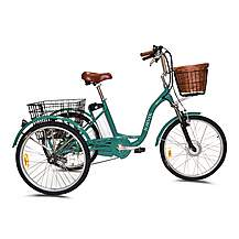 image of Jorvik Alloy Frame Dutch Style Electric Tricycle Green