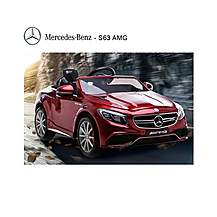 image of Licensed Mercedes S63 Amg 12v Ride On Electric Car With Remote Control - Metallic Red