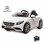 image of Licensed Mercedes S63 Amg 12v Ride On Electric Car With Remote Control - White