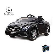 image of Licensed Mercedes S63 Amg 12v Ride On Electric Car With Remote Control - Black