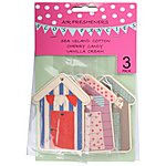 image of Flos Fancies Beach Huts Air Freshener 3 Pack