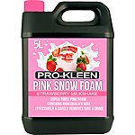 image of Pro-kleen Professional Coloured Snow Foam With Wax 5 Litre - Strawberry Milkshake Fragrance