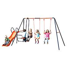 image of Hedstrom Europa Double Swing, Glider And Slide