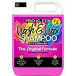 image of Pro-kleen Car Wash And Carnauba Wax Shampoo - Bubblegum