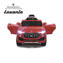 image of Licensed Maserati Levante 6v Electric Kids Ride On Car With Remote Control - Red
