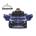 image of Licensed Maserati Levante 6v Electric Kids Ride On Car With Remote Control - Blue