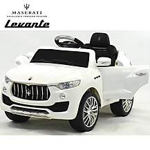 image of Licensed Maserati Levante 6v Kids Ride On Car With Remote Control - White