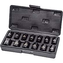 image of Autojack 13pc 1/2 Inch Square Drive Impact Metric Socket Set 10-24mm In Carry Case