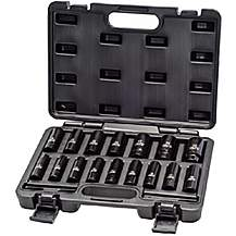 image of Autojack 16pc 1/2 Inch Square Drive Deep Impact Metric Socket Set 10-32mm In Carry Case