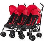 Obaby Mercury Triple Stroller Black/red