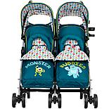 Obaby Twin Stroller With Footmuff Monsters Inc.
