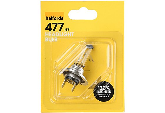 Halfords (HBU477) 55W H7 Car Bulb x 1