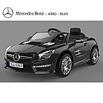 image of Licensed Mercedes Sl63 Amg Ride On 12v Electric Car With Remote Control - Black