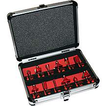 image of Lumberjack Rcs12p 12 Piece 1/2 Inch Router Cutter Set