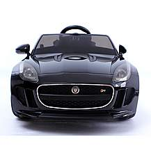 image of Licensed Jaguar F-type Ride On 12v Electric Car With Remote Control - Black